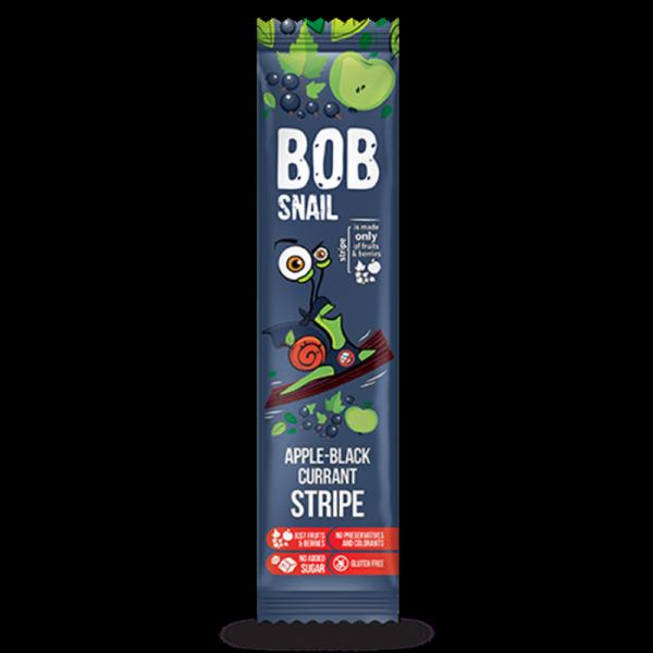 Bob Snail Stripe jabłko-czarna porzeczka, 14g