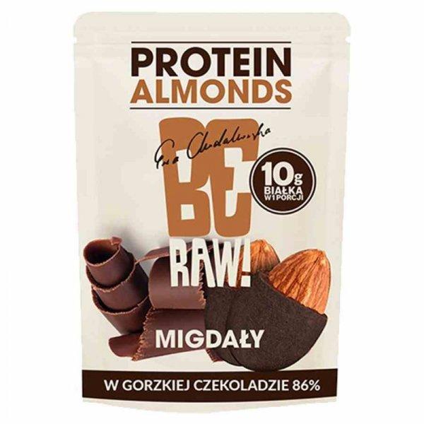 Migdały w gorzkiej czekoladzie 86% BeRAW, 45g