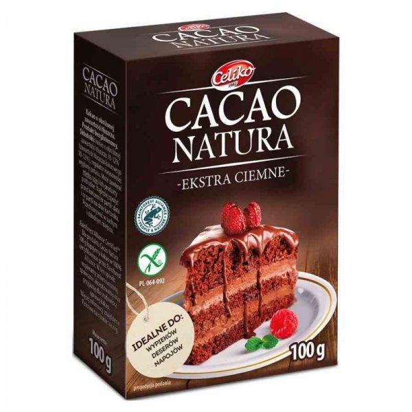 Kakao naturalne, ekstra ciemne bez glutenu Celiko, 100g