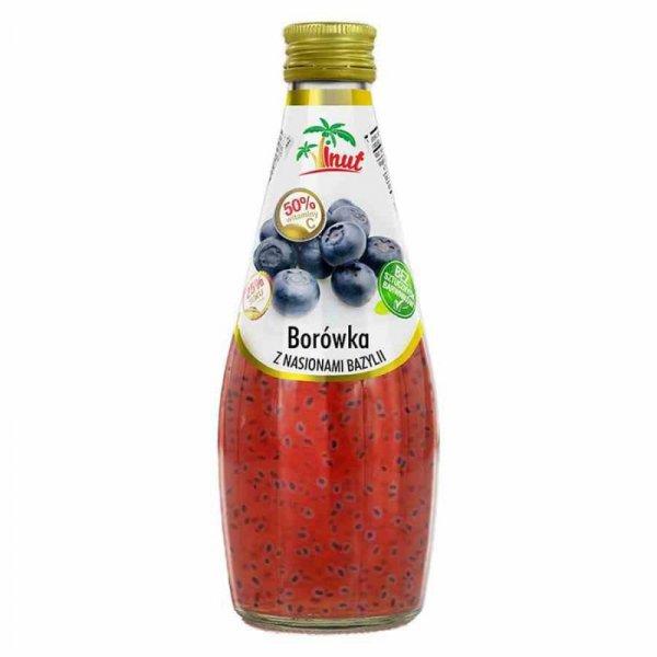 Napój Borówka z nasionami bazylii Vinut, 290ml
