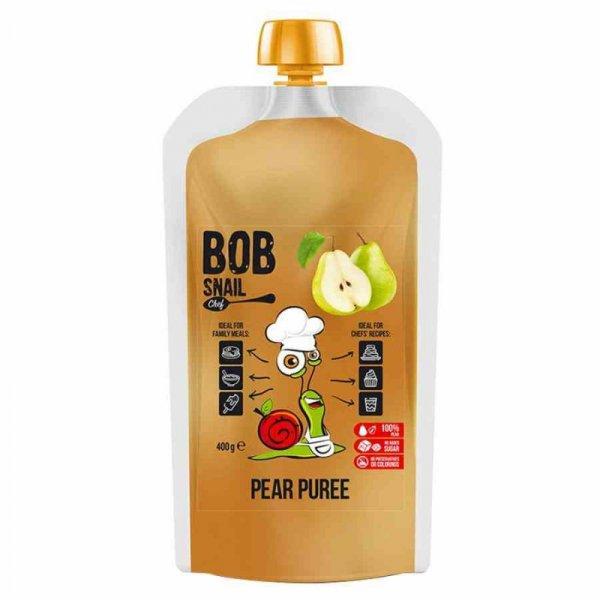 Puree z gruszki 100% owoców Bob Snail, 400ml