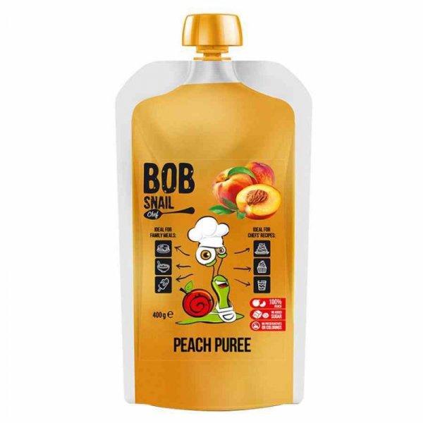 Puree z brzoskwini 100% owoców Bob Snail, 400ml
