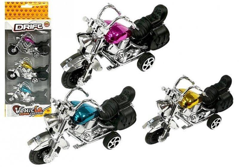 Zestaw Motocykli 3 sztuki Resoraki