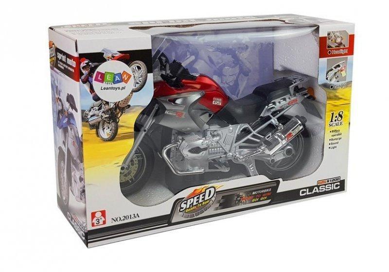 Motocykl Na Baterie ze Światłami i Muzyką Czerwony