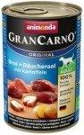 ANIMONDA GranCarno Orginal Adult puszki wołowina węgorz ziemniak 400 g