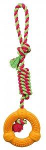 """TRIXIE Pierścień ze sznurem """"Denta Fun"""", 12 cm/41 cm [TX-33191]"""