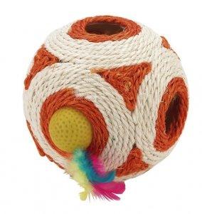 KERBL Zabawka piłka z sizalu, 12 cm [84531]