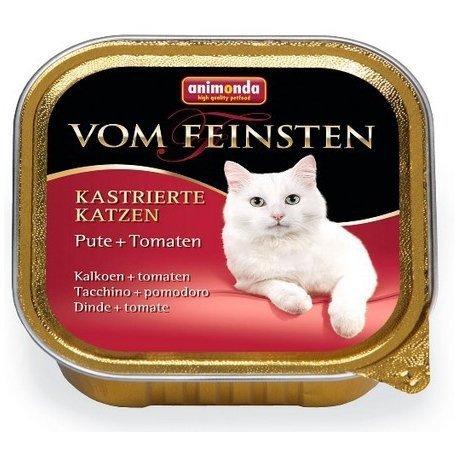 ANIMONDA Vom Feinsten for Castrated Cats szalka z indykiem i pomidorem 100 g