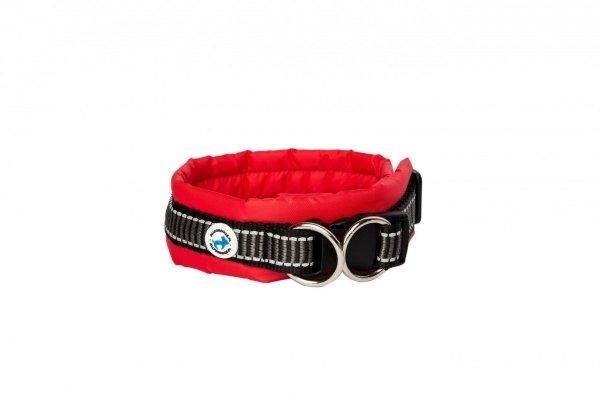ALL FOR DOGS Klasyczna obroża Czerwona M