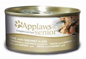 APPLAWS Tuna with Sardine in Jelly - SENIOR (puszka Senior Tuńczyk z Sardynką w Galaretce) 70g [1031]