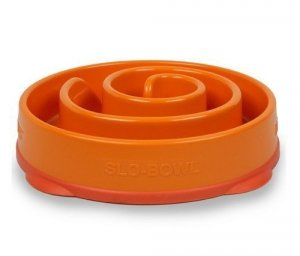 FUN FEEDER Miska plastikowa spowalniająca jedzenie MINI/MEDIUM pomarańczowa [51004]