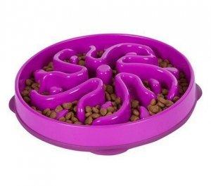 FUN FEEDER Miska plastikowa spowalniająca jedzenie LARGE fiolet [51003]