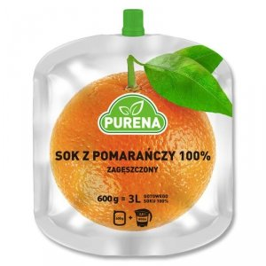 Sok pomarańczowy 100%, zagęszczony Purena, 600g