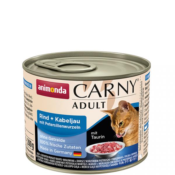 ANIMONDA Carny Adult puszka wołowina i dorsz z pietruszką 200 g