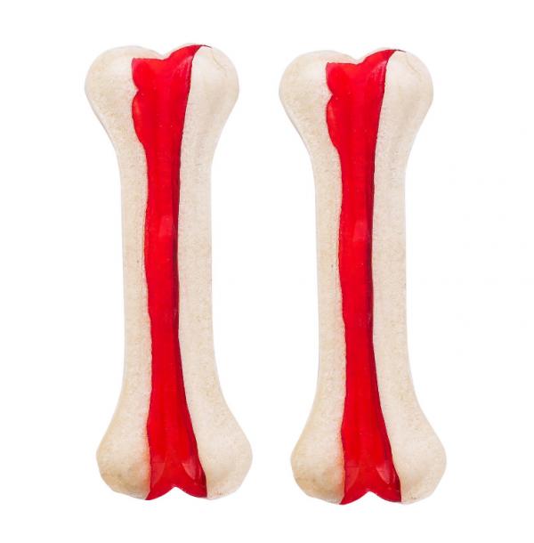 ADBI Kość prasowana czerwona 10cm (30-35g) [AK45] 20szt