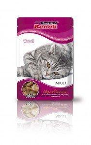 SUPER BENEK Saszetka dla kota z kawałkami cielęciny w sosie - Super Premium 100g