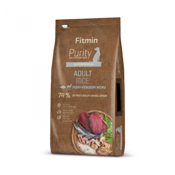 FITMIN dog Purity Rice Adult Fish&Venison 2kg