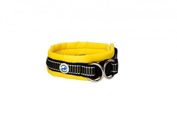 ALL FOR DOGS Klasyczna obroża Żółta L