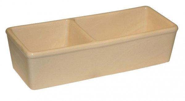 KERBL Miska ceramiczna, podwójna, 350 ml + 450 ml [82785]