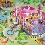 Mata Little Hippo 75x112cm Zamek Księżniczki dywan