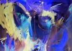 Niebieska Abstrakcja - fototapeta
