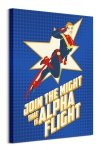 Captain Marvel Alpha Flight - obraz na płótnie