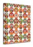 Owls Family - Obraz na płótnie