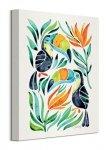 Tropical Toucans - Obraz na płótnie