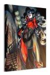 Harley Quinn Gun Smoke - obraz na płótnie