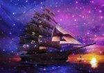 Fototapeta Statek w Kosmosie flizelinowa