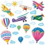 Naklejki balony i samoloty