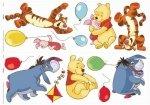Naklejki Kubuś Puchatek i balony