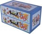 Pudełko 2 szufladki poziome Alfabet Szkoła