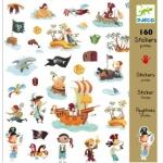 Zestaw 160 naklejek Piraci