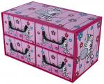 Pudełko Sawanna 4 szufladki poziome ZEBRA