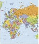 Naklejka Mapa Świata suchościeralna