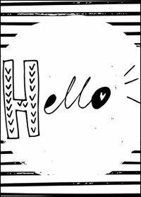 Hello - plakat