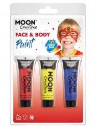 Zestaw farb do twarzy i ciała 3szt red
