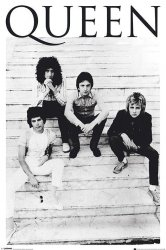 Queen i Freddie Mercury Brazylia 1981 - plakat