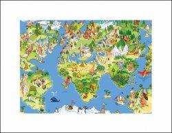 Mapa Świata dla Dziecka - plakat premium