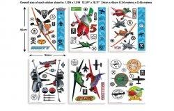 Zestaw naklejek-naklejki Disney Planes Samoloty
