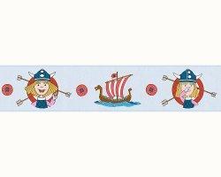 Pasek dekoracyjny Piraci Wikingowie BORDER 94195-2 KIDS BEST FRIENDS niebieski