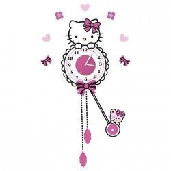 Zegar naklejka Hello Kitty
