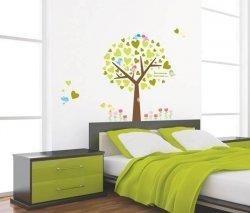 Zielone drzewo i ptaszki
