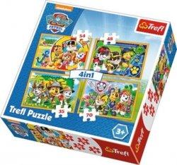 Puzzle 4w1 Psi Patrol Zawsze na czas 34307 TREFL