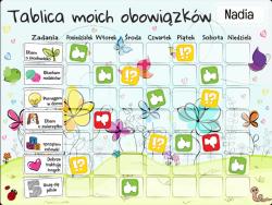 Tablica Magnetyczna, Mata Motywacyjna Dla Dzieci Kwiatuszki