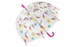 Parasolka przezroczysta UNICORN parasol transparentny Jednorożce