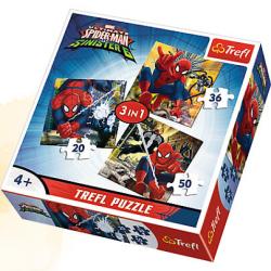 TREFL PUZZLE 3W1 ŚWIAT SPIDERMANA SPIDER-MAN 34822