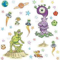 Naklejki Kosmos - dziwni Obcy