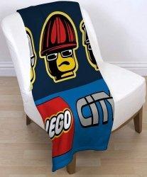 Koc polarowy Lego City Heroes 120x150cm